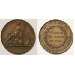 MEDAILLE COMPGNIE DES CANAUX DE PARIS 1818