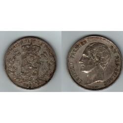 BELGIQUE 5 FRANCS 1865 LEOPOLD PREMIER