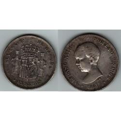 5 PESETAS ALFONSO XIII 1891* 18-91 PGM
