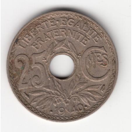 25 CENTIMES LINDAUER    1940  TTB+   25C025
