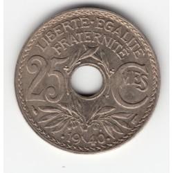 25 CENTIMES LINDAUER 1940 SPL 25C028