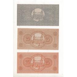 NOTGELD - AACHEN - 3 different notes - 2 x 25 pfennig 1 x 50 pfennig (A001)