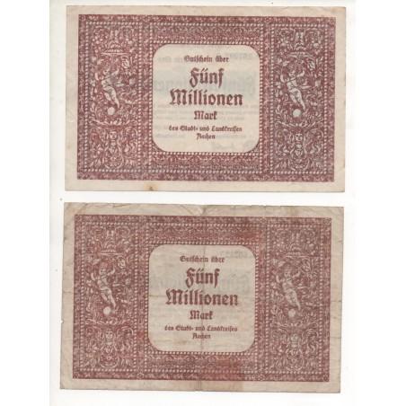 NOTGELD - AACHEN - 4 different notes - 1923 (A008)