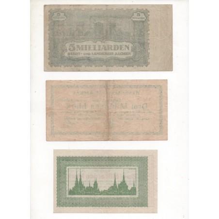 NOTGELD - AACHEN - 6 different notes - 1923 (A009)
