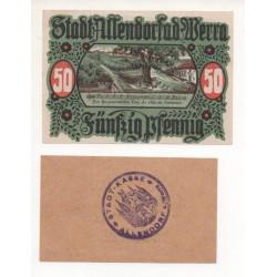 NOTGELD - ALLENDORF - 2 different notes 10 & 50 pfennig (A025)