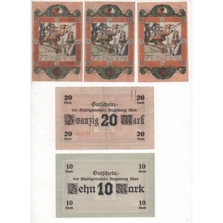 NOTGELD - ALLSTEDT - 8 different notes - serie & VARIANTE - 1918 (A027)