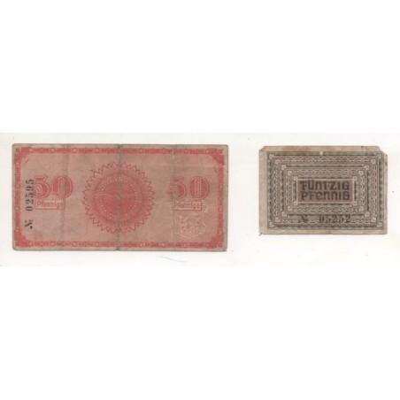 NOTGEL - ADORF - 2 different notes 50 pfennig - 31/12/1918-1919 (A014)