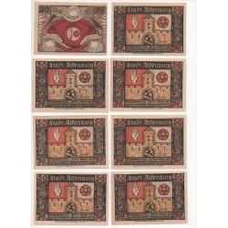 NOTGELD - ALTENBURG - 15 different notes 50 pfennig - 1921 (A034)