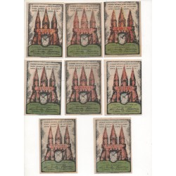NOTGELD - ALTONA - 2 series + VARIANTE - 19 different notes - RARE - 1921 (A039)