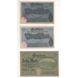NOTGELD - ANNABERG - 5 different notes - VARIANTE - 1918 (A051)