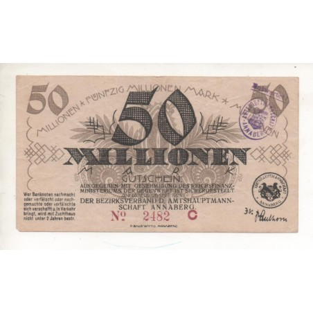 NOTGELG - ANNABERG - 50 millionen - 1923 (A052)