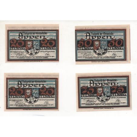 NOTGELD - APPEN - 12 different notes - 25 & 50 & 75 pfennig (A058)
