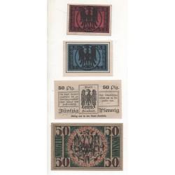 NOTGOLD - ARNSTADT - 4 different notes - 10 & 25 & 50 pfennig - 1920 (A062)