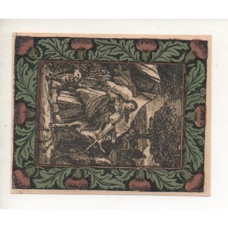 NOTGELD - ARTEN - 50 pfennig - sans imprimerie RARE - 1921 (A064)