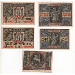 NOTGELD - ASCHAFFENBURG - 5 different notes 6 numbers - VARIANTE (A067)