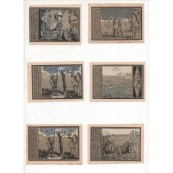 NOTGELD - ASCHERSLEBEN - 9 different notes - 25 & 50 & 75 pfennig - Color - 1921 (A069)