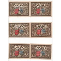 NOTGELD - AUMA - 6 different notes - 50 pfennig - 1921 (A079)