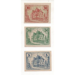 NOTGELD - AUMA - 3 different notes - 2 without numbers - 1920 (A081)
