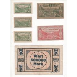 NOTGELD - BAD EMS - 11 different notes (B002)