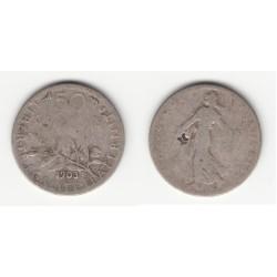 50 CENTIMES SEMEUSE 1899 TTB+ 50C013