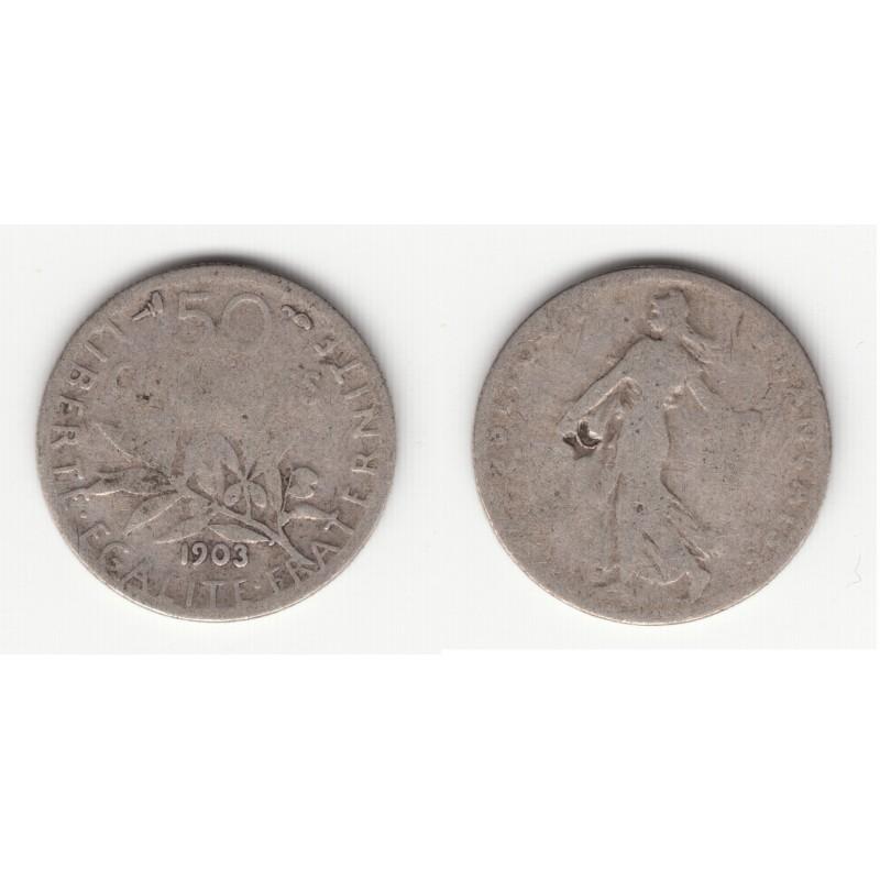 50 CENTIMES SEMEUSE  1903    B   50C016