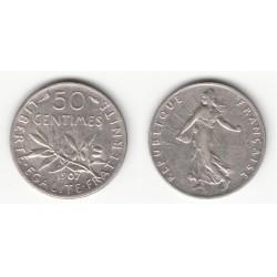50 CENTIMES SEMEUSE 1907 SUP 50C018