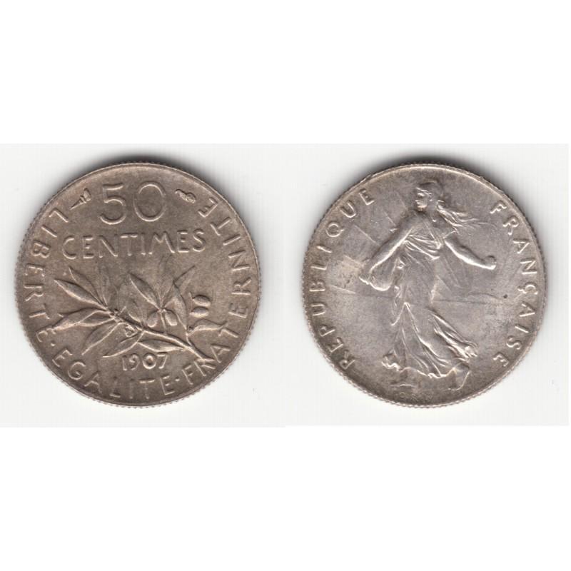 50 CENTIMES SEMEUSE  1907    SUP    50C019