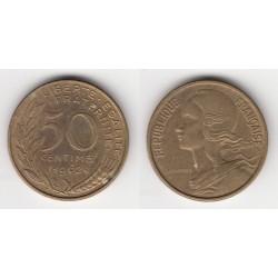 50 CENTIMES MARIANNE 1962 col à 4 plis TTB 50C030