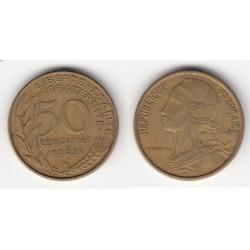 50 CENTIMES MARIANNE 1962 col à 4 plis TTB 50C031