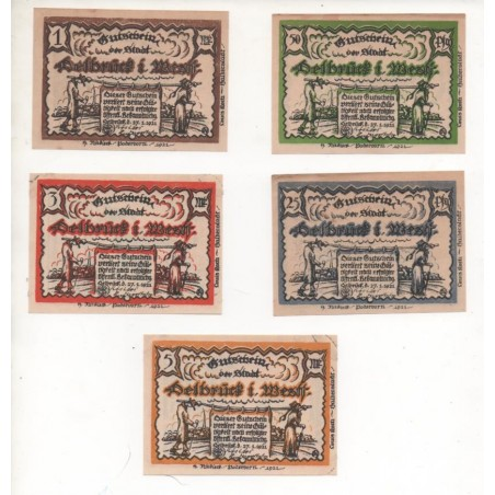 NOTGELD - DELBRUCK - 5 different notes (D015)