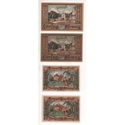 NOTGELD - DINGOLFING - 4 different notes - 50 pfennig (D021)