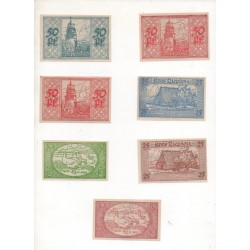 NOTGELD - DIEPHOLZ - 7 different notes - 10 & 25 & 50 pfennig (D025)