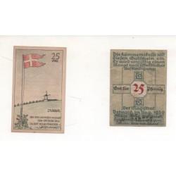 NOTGELD - DÜBBEL - 2 different notes - 25 pfennig (D059)