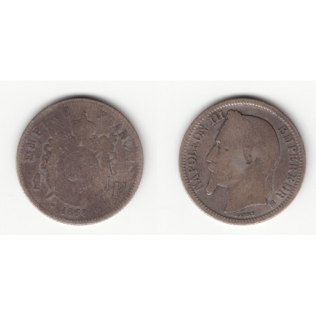 1 FRANC NAPOLEON III   TETE LAUREE   1868 BB   B   1F007