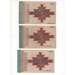 NOTGELD - DUSSELDORF - 3 different notes - with number mistake (D072)