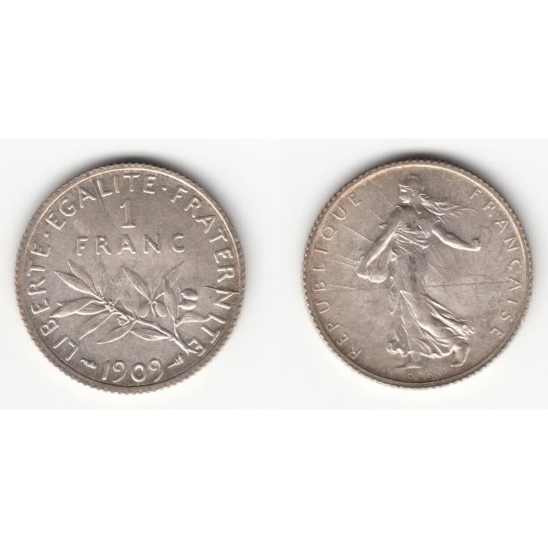 1 FRANC  SEMEUSE  1909   SUP+   1F025