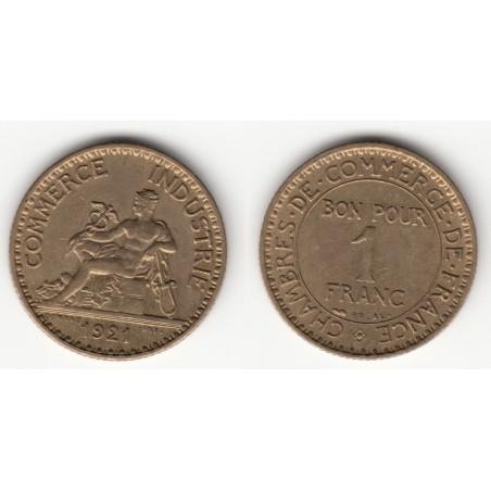 1 FRANC CHAMBRE DE COMMERCE  1921  SUP   1F031