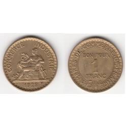 1 FRANC CHAMBRE DE COMMERCE 1922 SUP+ 1F032
