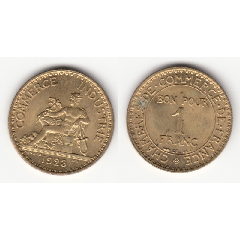 1 FRANC CHAMBRE DE COMMERCE  1923   SPL   1F034