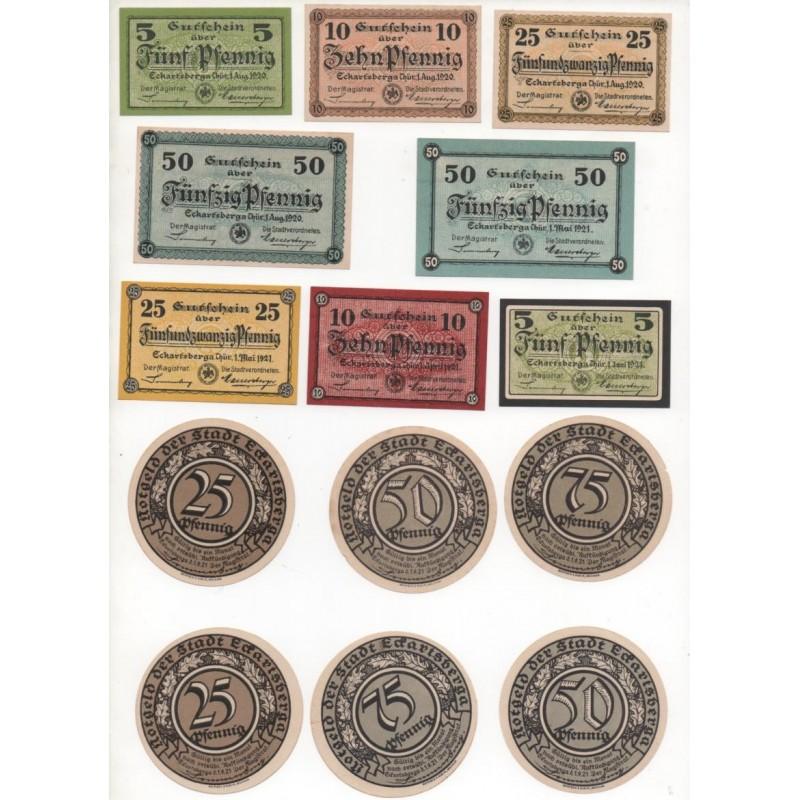 NOTGELD - ECKARTSBERGA - 20 different notes - 5 & 25 & 50 & 75 pfennig (E005)