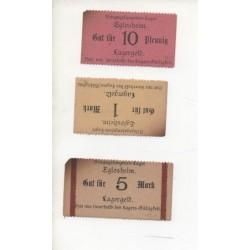 NOTGELD - EGLOSHEIM - 3 different notes - Prissonier - 1917 (E009)