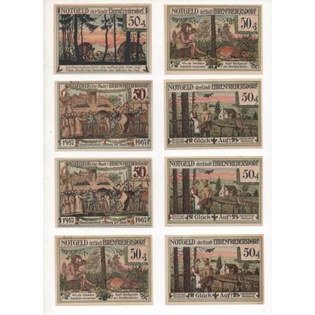 NOTGELD - EHRENFRIEDERSDORF - 14 different notes - 50 pfennig & 1 mark (E012)
