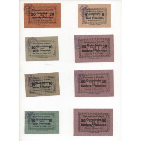 NOTGELD - EICHSTADTT - 8 different notes - 1917 (E013)