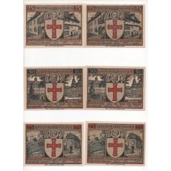 NOTGELD - EISENACH - 14 different notes 25 & 50 75 pfennig - VARIANTE (E019)
