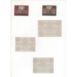 NOTGELD - EISLEBEN - 5 different notes - 5 & 10 & 50 pfennig (E024)
