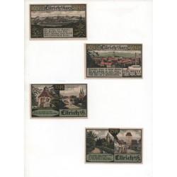 NOTGELD - ELRICH - 4 different notes - 50 & 75 pfennig (E037)