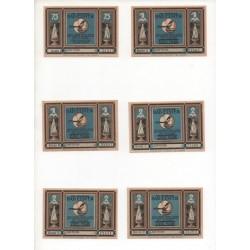 NOTGELD - ELSTER - 12 different notes - 25 & 50 & 75 pfennig 1 & 2 mark (E038)