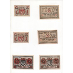 NOTGELD - EMMERICH - 6 different notes - big & small numbers (E042)