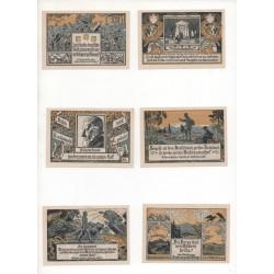 NOTGELD - ERCHERSHAUN - 6 different notes (E046)
