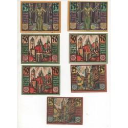 NOTGELD - ERFURT - 13 different notes - 10 & 20 & 25 & 50 & 75 pfennig (E049)